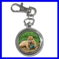 Key Chain Pocket Watch SHAR PEI Dogs Puppy Pets Animals (12155958)