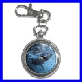Key Chain Pocket Watch SHARK JAW Fish Ocean Sea Animal (12155959)