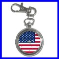 Key Chain Pocket Watch USA FLAG American United States (13258718)