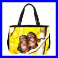 Oversize Office Handbag 2 MONKEYS BABY Wild Animal Cute (27153114)