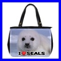 Oversize Office Handbag BABY SEAL Sea Animal Purse Bag (27154202)