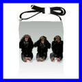 Shoulder Sling Bag Messenger 3 MONKEYS See Hear Speak (25613062)