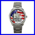 Sport Metal Watch ABRAHAM LINCOLN Statue President US (12464082)