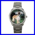 Sport Metal Watch AFGHAN HOUND Boy Dog Puppy Animal Pet (12464084)