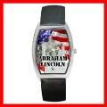 Barrel Metal Watch ABRAHAM LINCOLN Statue President US (12662350)