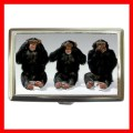 Cigarette Card Money Case Box 3 MONKEYS See Hear Speak (15373475)