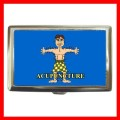 Cigarette Card Money Case Box ACUPUNCTURE AMA Doctor NR (16344082)