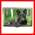 Cigarette Card Money Case Box  BLACK SCOTTISH TERRIER (17699492)