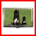 Cigarette Card Money Case Box AFGHAN HOUND Dog Puppy NR (17699468)