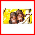 Pencil Case Pen Bag 2 MONKEYS BABY Wild Animal Jungle (22099575)