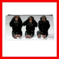Pencil Case Pen Bag 3 MONKEYS See Hear Speak Weird Cute (22100199)