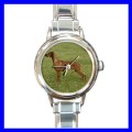 Round Charm Watch RHODESIAN RIDGEBACK Dog Puppy Animal (11811971)