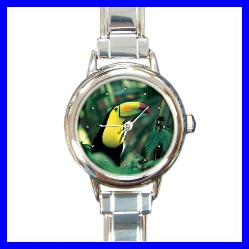 Round Charm Watch TOUCAN Wild Animal Bird Woods Jungle (11812028)