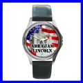 Round Metal Watch ABRAHAM LINCOLN Statue President US (11776346)