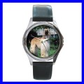Round Metal Watch AFGHAN HOUND Boy Dog Puppy Animal Pet (11776348)