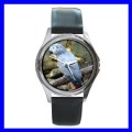Round Metal Watch AFRICAN GREY PARROT Bird Pet Animal (11776349)