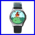 Round Metal Watch FISHING Big Fish Story Pier Gag Boys (11776482)