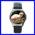 Round Metal Watch FLAMINGO BIRD Wild Animal Zoo Jungle (11776483)