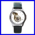 Round Metal Watch FRENCH HORN Brass Band Musician Music (11776486)