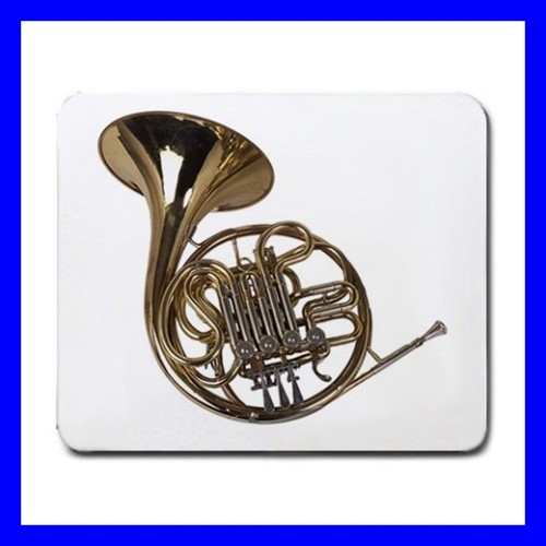 Mousepad Mouse Mat Pad FRENCH HORN Brass Band Instrument Music (11935745)