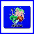 Mousepad Mouse Mat Pad AQUARIUS Zodiac Sign Astrology Space Gift (14780637)
