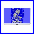 Business Card Holder Name Case Box AQUARIUS Zodiac Sign Astrology (12281643)