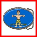 Chrome Metal Belt Buckle ACUPUNCTURE AMA Needle Medical Doctor (21857703)