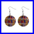Button Dangle Earrings TAROT CARDS Game Fortune Teller Playing (12140801)