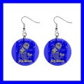 Button Dangle Earrings AQUARIUS Zodiac Sign Astrology Space Gift (14789581)