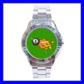 Stainless Steel Watch 8 BALL Pool Eight Game Billiard Snooker (31148223)