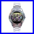 Stainless Steel Watch ALIEN PLAYING POKER Card Texas Holdem Game (31148230)