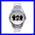 Stainless Steel Watch 3 MONKEYS See Hear Speak Animal Zoo Weird (31148305)