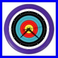 Color Wall Clock ARCHERY Target Olympic Sports Games Bow Arrow (27199988)