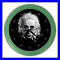 Color Wall Clock ALBERT EINSTEIN Photo Science Memorable Gift (27200304)