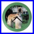 Color Wall Clock AFGHAN HOUND DOG Vet Puppy Pet Gift Tech (27200464)