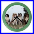 Color Wall Clock AUSTRALIAN SHEPHERD Dog Puppy Pet Animal Vet (27200476)