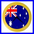 Color Wall Clock AUSTRALIA Flag Australian Gift National Souvenir (27200827)