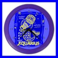 Color Wall Clock AQUARIUS Zodiac Sign Astrology Space Decor Gift (27200997)