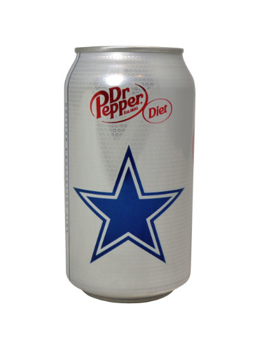 2017 Dallas Cowboys 12oz Diet Dr Pepper