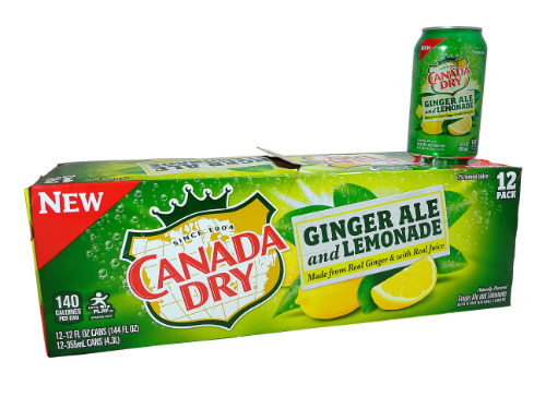 12 pack Canada Dry Ginger Ale with Lemonade
