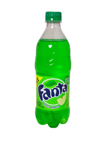 20oz Fanta Green Apple