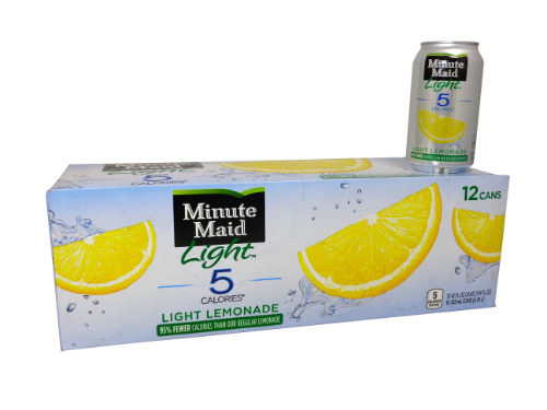 12 Pack Minute Maid Light Lemonade