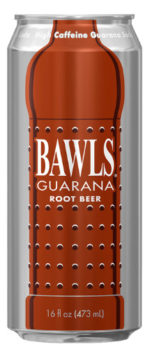 Bawls Root Beer-cans