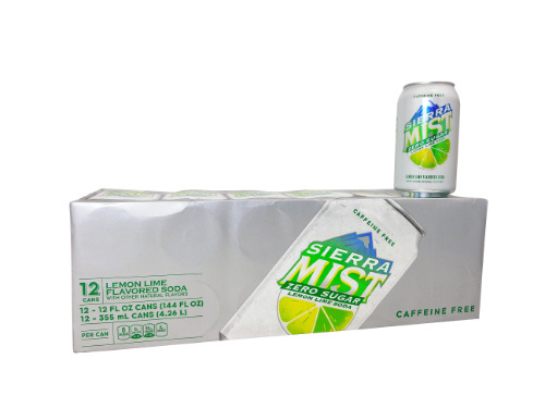 12 Pack Sierra Mist Lemon Lime Zero Sugar