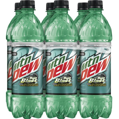 6 pack 16.9oz Mountain Dew Baja Blast