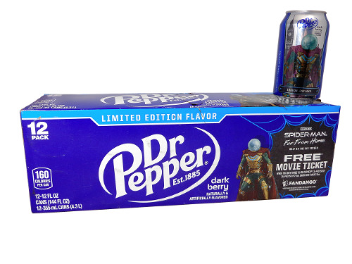 12 Pack Dr Pepper Spiderman Dark Berry