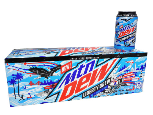 12 pack Mountain Dew Liberty Brew