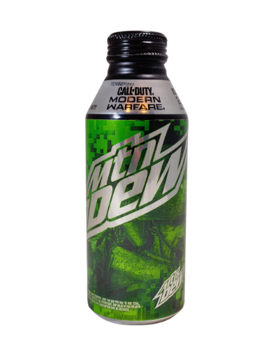 Mountain Dew Call of Duty Modern Warfare Alum. Bottle