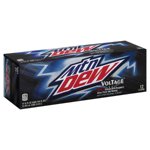 12 pack Mountain Dew Voltage-New