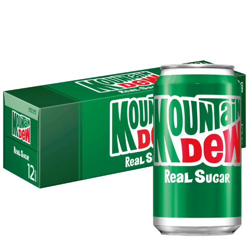 12 pack Mountain Dew Throwback-New